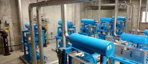 pumps in blower room