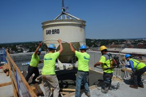 construction crew on rooftop